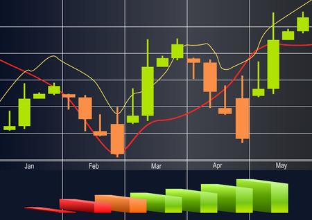商品、外国為替取引のベクトル  イラスト・ベクター素材