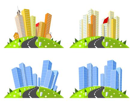 skylines: Vector cities skylines set.