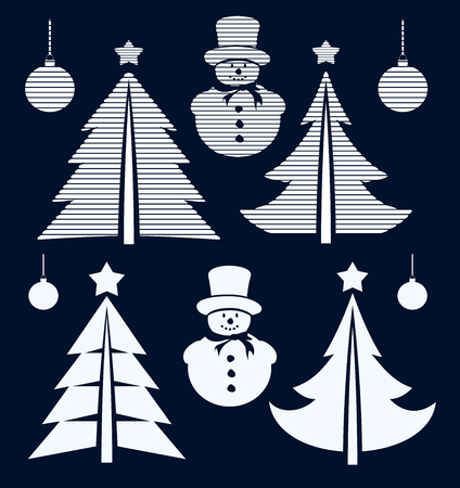graphical: Graphical Christmas symbols set