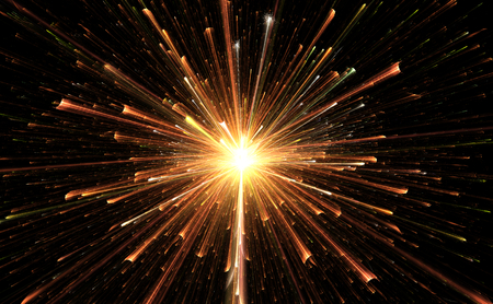 light burst: Star explosion with particles