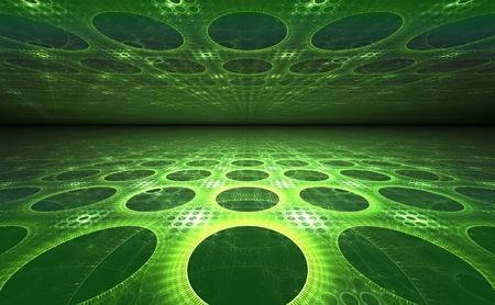 illusion: 3D perspective illusion geometric background Stock Photo