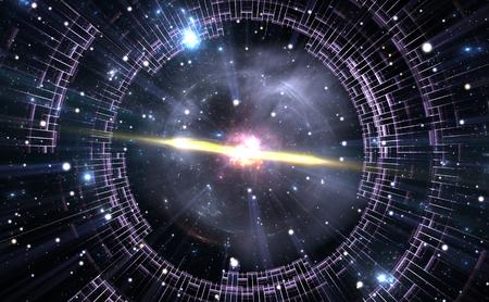 Túnel del tiempo, viajando en el espacio. Foto de archivo - 46619054