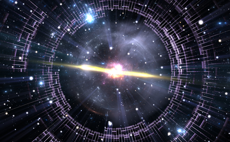 tunnel portals: Time warp, traveling in space.