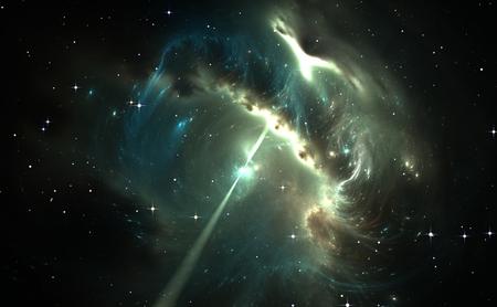 radiacion solar: Pulsar en la nebulosa