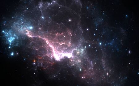 mysteries: Space background with purple nebula and stars