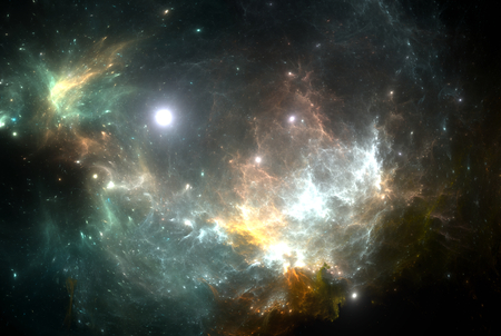 heaven: Star illuminating the nebula Stock Photo