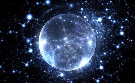 matter: Spherical energetic quantum bubble Stock Photo