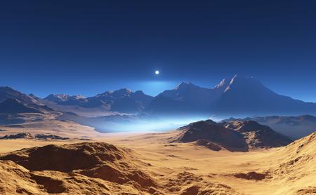 high desert: Fantasy desert landscape