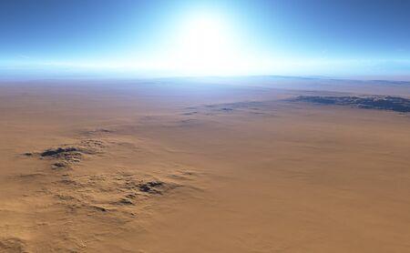 desert landscape: Fantasy desert landscape