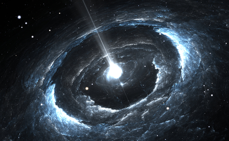 Highly magnetized rotating neutron star