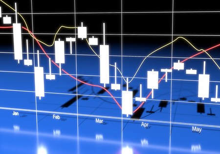 commodity: Commodity, Forex Trading Chart Stock Photo