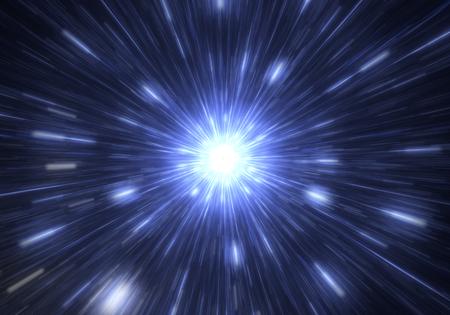 warp: Time warp, traveling in space.
