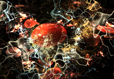red blood cell: Cells, bacteria or virus