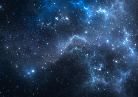 nebula: Space background with nebula and stars Stock Photo
