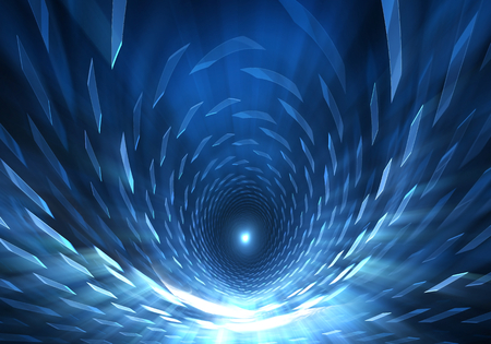 Wormhole, funnel-shaped tunnel that can connect one universe with another