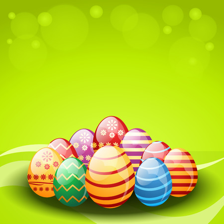flower bright: Vector decorated easter eggs