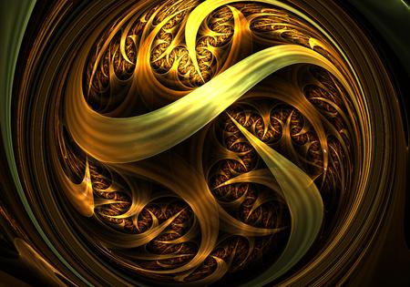 artwork: Gold fractal digital artwork