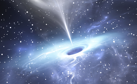 black hole: Supermassive black hole at the Milky Way Galactic Center Stock Photo