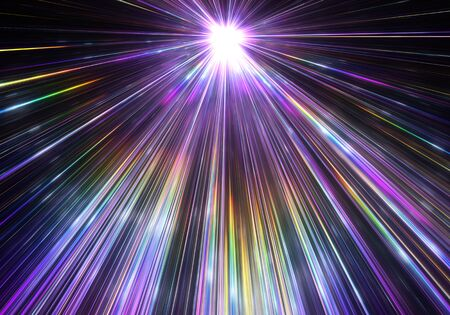 rays light: Star explosion with particles and rays