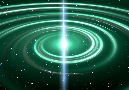 warp speed: Pulsar highly magnetized, rotating neutron star