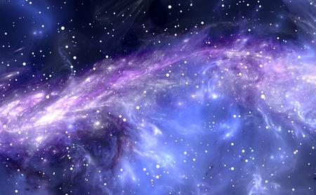 nebulosa de gas-polvo, fondo profundo del espacio exterior con las estrellas