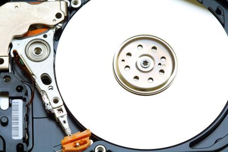 hard drive: Open hard drive. Close-up