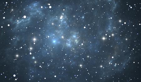 nebula: Giant glowing nebula. Space background with blue nebula and stars