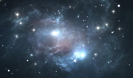 stars  background: Giant glowing nebula. Space background with blue nebula and stars