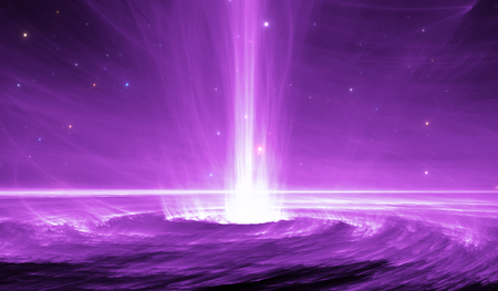 cosmology: Space object with extreme-energy cosmic ray. Black hole shoots out plasma jets