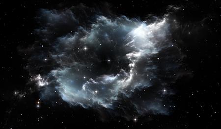 우주 별 성운입니다. 성운과 별이있는 우주 배경