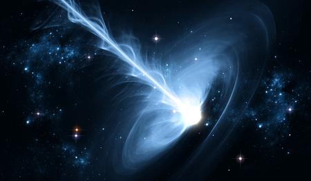light emission: Black hole in deep space