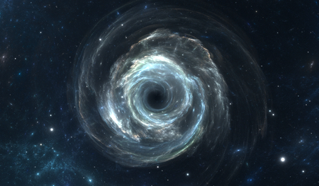 black hole: Black hole in deep space