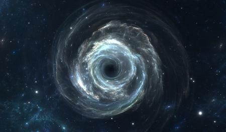 Schwarzes Loch im Weltraum