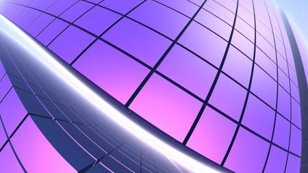 3D Abstract geometric purple background, 3D illustration