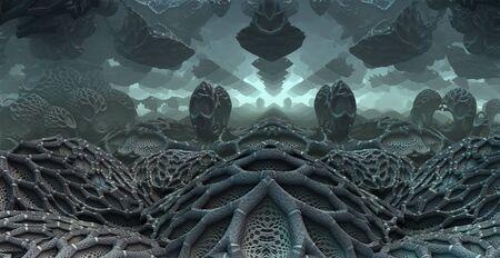 fantasy background: 3D fantasy background from strange shapes, 3D illustration