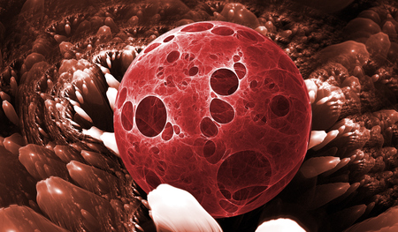 coagulation: Cells, bacteria or virus for use with projects on science, research, biology and education Stock Photo