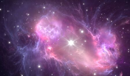 supernova: Supernova explosion with nebula in the background Stock Photo