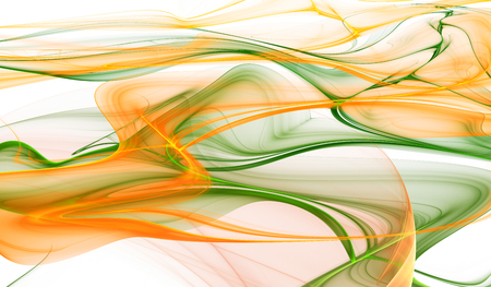 orange abstract: Abstract orange and green color wavy background Stock Photo