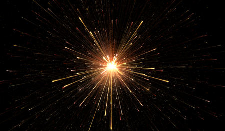 Glowing lights, particle explosion Stock Photo