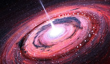 astronomic: Black hole at the center of the Milky Way Galaxy, illustration