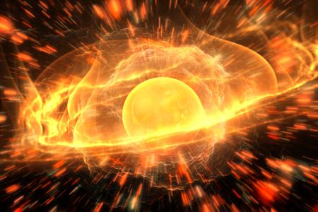 Energy atomic element, illustration