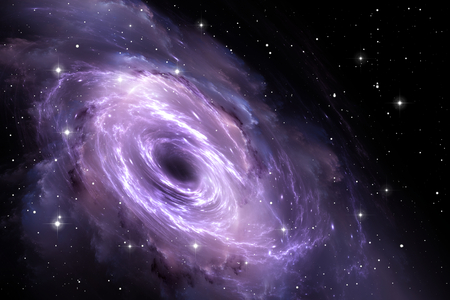 gravitational: Black hole in the nebula, gravitational field Stock Photo