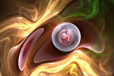 Abstract synthetic cell, 3D illustration Stock Photo