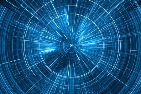 Time Warp, voyageant dans l'espace. Dilatation du temps, illustration Banque d'images - 88940104