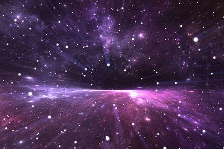 Time Warp, voyageant dans l'espace. Dilatation du temps, illustration 3D Banque d'images - 90374620