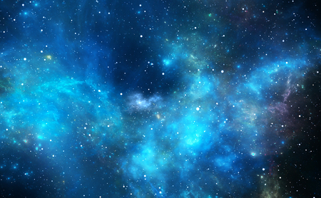 Space background with nebula and stars, 3D illustration