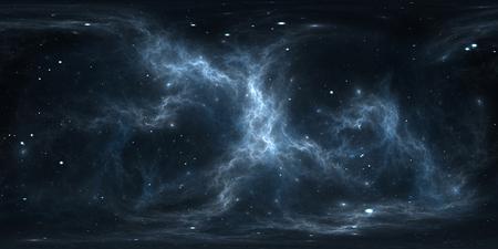 星雲と星を持つ空間の背景。パノラマ、環境 360 HDRI マップ。等角投影、球状のパノラマ。3Dイラスト