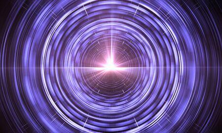 Time Warp, voyageant dans l'espace. Dilatation du temps, illustration Banque d'images - 93701709