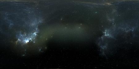 성운과 별 공간 배경입니다. 파노라마, 환경 360 HDRI지도입니다. Equirectangular 투영, 구형 파노라마입니다. 차원 그림 스톡 콘텐츠