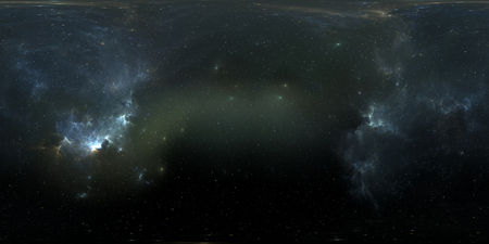 Space background with nebula and stars. Panorama, environment 360 HDRI map. Equirectangular projection, spherical panorama. 3d illustration Stok Fotoğraf - 93440804